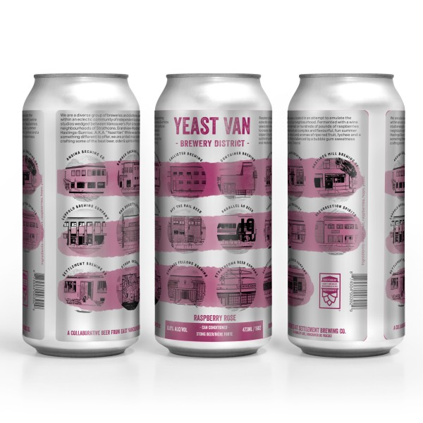 Yeast Van Brewery District Collective Releases Raspberry Rosé Saison