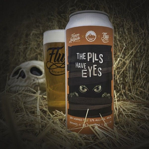 Flux Brewing, Farm League Brewing & The Travelling Pint Release The Pils Have Eyes Pilsner