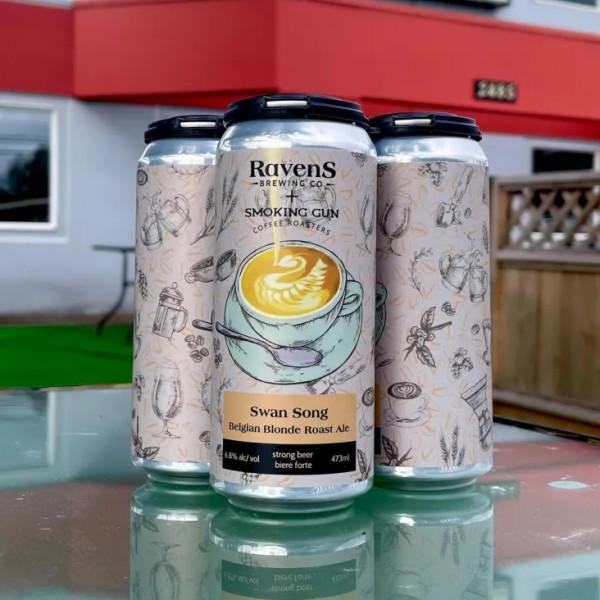 Ravens Brewing and Smoking Gun Coffee Roasters Release Swan Song Belgian Blonde Roast Ale